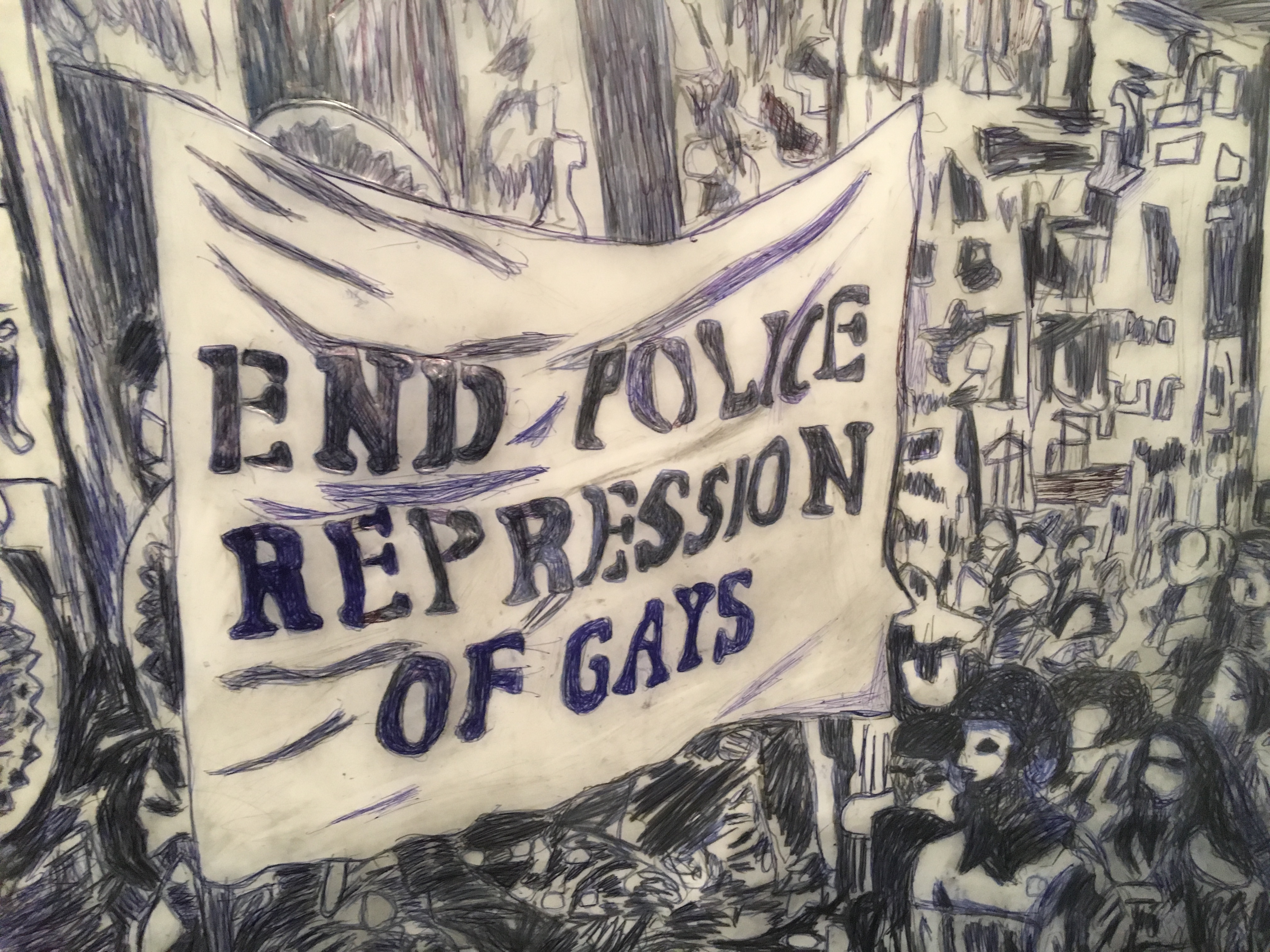 Street Protest 1981 Banner End Police Repression